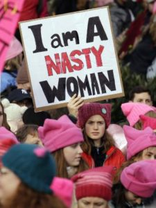 March for Women Protester